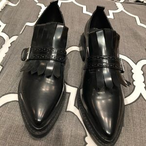 Zara leather formal loafer